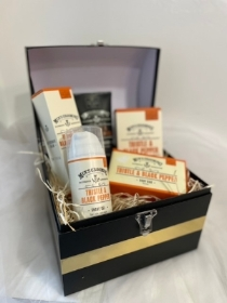 Gents gift chest Thistle and Black Pepper by the Scottish fine soaps company